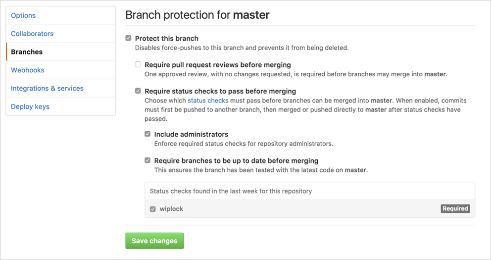Protect branch